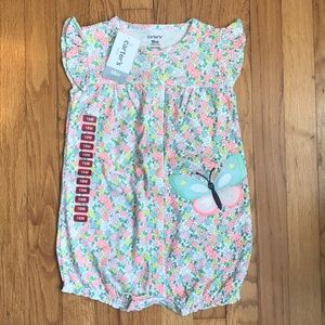 NWT - 18 month - Carter's Floral Girls romper